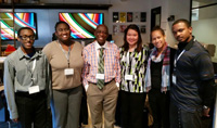 L to R - William Brown, III, Gabrielle Buchanan, Dr. Thomas Mensah, Dr. Chutima Boonthum-Denecke, Lauren Patterson, C. Camerson Peele