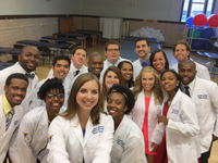 HU Department of Physical Therapy White Coat and Pinning Ceremonies Students