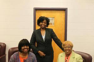 Dr. Bertha Davis, Dr. Sherri Saunders-Goldson and Dr. Hilda Williamson
