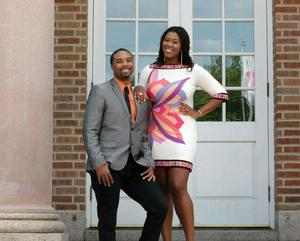 The new hosts of 'The View from Hampton U' Joseph Walters '05 and Stephanie Sutton '08.