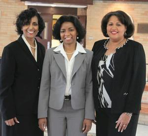 School of Business professors Dr. Ruby Beale, Dr. Ziette Hayes and Dr. Sylvia Rose