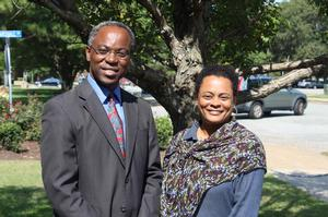 Dr. Raymond Samuel, principal investigator, and Dr. Deidre Gibson, co-principal investigator, Hampton PREM