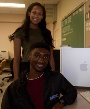 Lauren Patterson and Malik Jones, Apple & TMCF HBCU Scholarship winners