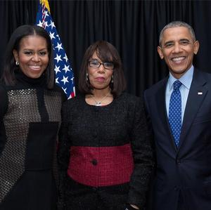 from left: First Lady Michelle Obama, Rev. Haggins and President Barack Obama