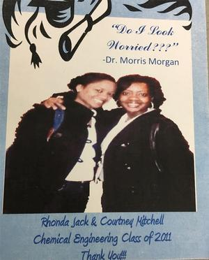 Rhonda Jack & Courtney Mitchell pictured in class photo from 2011.