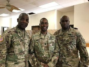 MG Williams, LTC Smith, and CSM Bartee