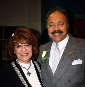 Hampton University President Dr. William R. Harvey and Mrs. Norma B. Harvey