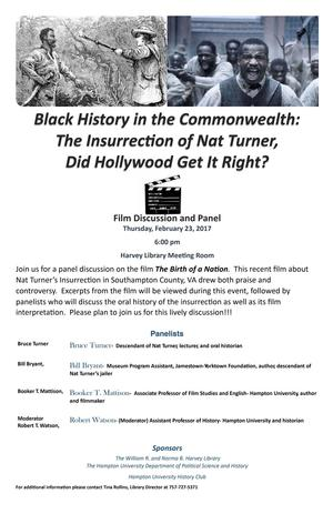 """Black History in the Commonwealth: The Insurrection of Nat Turner, Did Hollywood Get It Right?"""