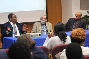 Panelist Bruce Turner, Bill Bryant, and Booker T. Mattison