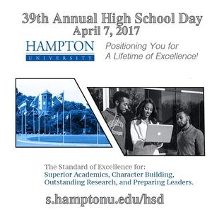 39th Annual High School Day Apr. 7th, 2017