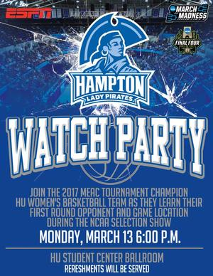 Join the Lady Pirates at the NCAA Watch Party