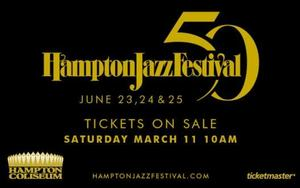 The Hampton Jazz Festival will take place over a 3-day period at the Hampton Coliseum – June 23, 24 & 25.