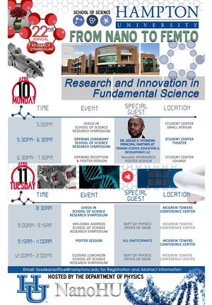 22nd Annual HU Research Symposium, April 10-11th