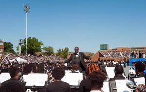 Hampton University Symphonic Band performing at 2017 Commencement Ceremony