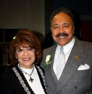 Hampton University President Dr. William R. Harvey and Mrs. Norma B. Harvey
