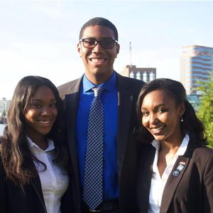 Ashleigh Williams, Michael McGee, Pearis Bellamy (left to right)