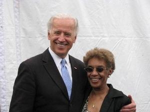 HU alumna Bettie Anderson and Vice President Joe Biden