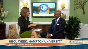 Sr. VP Paul C. Harris chat with co-host Kerri Furey while appearing on The Hampton Roads Show