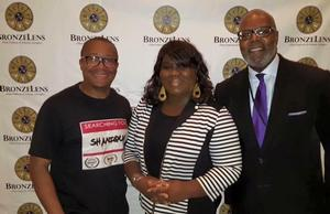 Phil Branch, HU Associate Prof.Eleanor Earl and Hollywood casting director/ film producer Reuben Cannon (l.to r.)