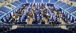 Career Day inside the HU Convocation Center