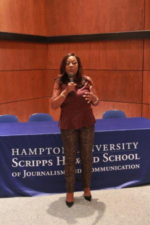 Star Jones speaks in Scripps Howard auditorium