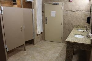 Newly renovated bathroom in Kennedy Hall