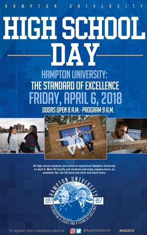 Hampton University High School Day 2018, April 6, 2018