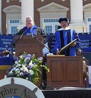 Dr. William R. Harvey receives honorary doctorate from Christopher Newport University