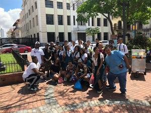 WRHLI  Fellows with the high school Children in Panama.