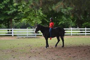 Jaiden Phillips receiving first riding lesson during first day of the R.I.D.E.R.S. program