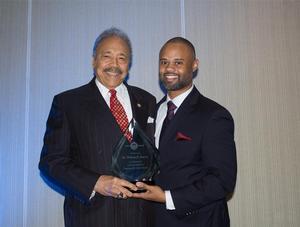 Hampton University President Dr. William R. Harvey and HBCU Digest Founding Editor Jarrett L. Carter Sr.