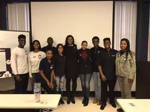 Delegate Jennifer Carroll Foy with Hampton University students