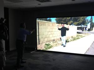 HU professors participate in a police simulation training program