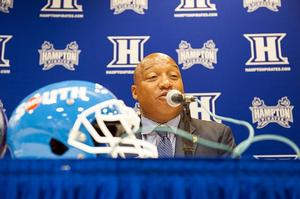 Hampton University's Head Football Coach, Robert Prunty