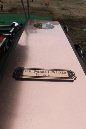COL Walker's grave marker at Hampton Memorial Cemetery, Hampton, VA.