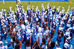 """Hampton University """"The Marching Force"""" marching band"""