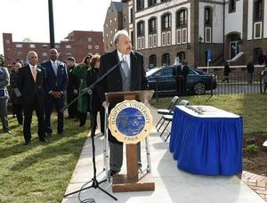 Hampton University President, Dr. William R. Harvey, unveils newest addition to campus, Legacy Park