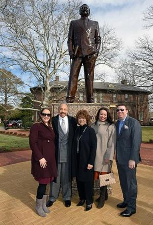 Hampton University President, Dr. William R. Harvey, with his family