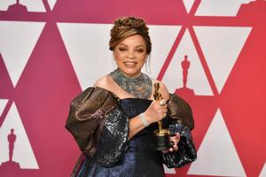 Ruth E. Carter celebrates her historic win at the Academy Awards.