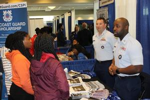 The Coast Guard was represented and students showed their interest.