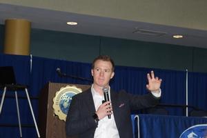 Motivational Speaker Curt Steinhorst Gives Keynote Address at Fall Institute