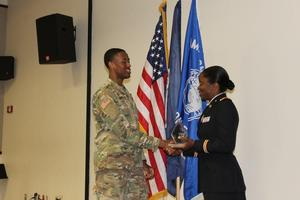 Cadet Douglass was recognized by LTC Stokes as the top Cadet in the Pirate Battalion.