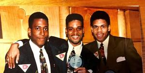 Shawn Rhoades ('co 94), Dexter Tanksley ('co 93), and Horace Christian Jr. ('co 94)