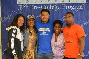 Incoming freshman, Tyrone Mayer with his family from Maryland.