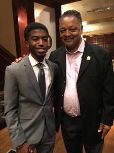 Marcus Anderson and Reverend Jesse Jackson