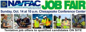 NAVFAC Mid-Atlantic Seeking Applicants at Chesapeake Job Fair