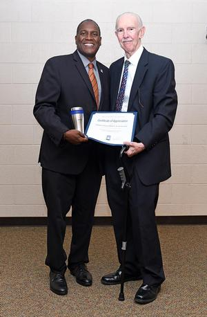 Ambassador Bullington with Dr. Jarris Taylor, Director of the William R. Harvey Leadership Institute