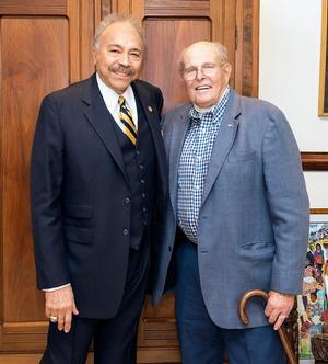 Dr. William R. Harvey and Brig. General Dick Abel