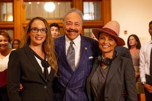 Leslie Cash, Dr. William R. Harvey, and Victoria Rowell