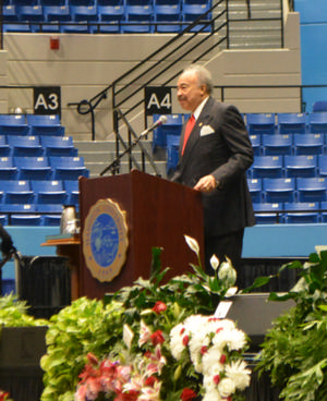 Dr. Harvey speaks at Dr. Christian's Celebration of Life